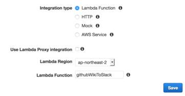Integration with Lambda Function
